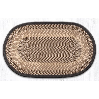 Chocolate/Natural Braided Area Rug Rug Size: Oval 23 x 39