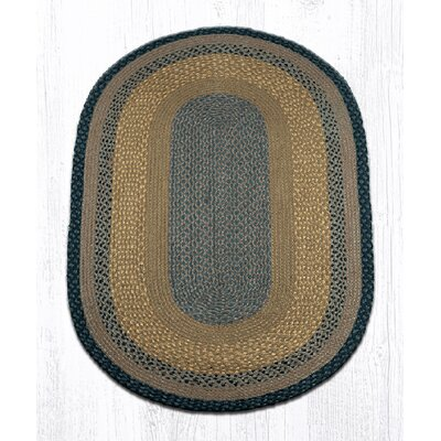 Brown/Black/Charcoal Braided Area Rug Rug Size: Oval 3 x 5