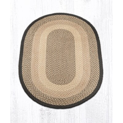Chocolate/Natural Braided Area Rug Rug Size: Oval 4 x 6