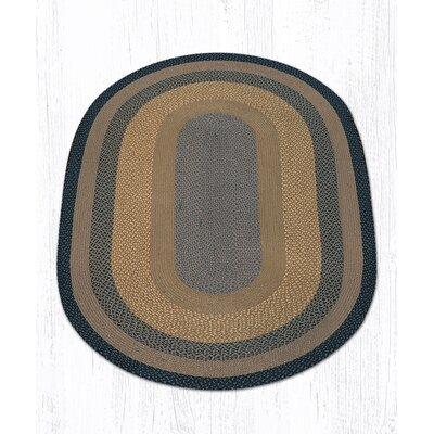 Brown/Black/Charcoal Braided Area Rug Rug Size: Oval 5 x 8
