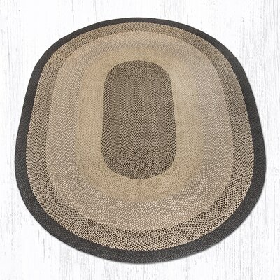 Chocolate/Natural Braided Area Rug Rug Size: Oval 8 x 11