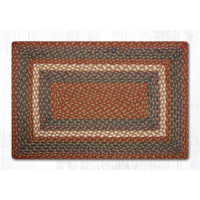 Burgundy/Gray Braided Area Rug Rug Size: Rectangle 18 x 26
