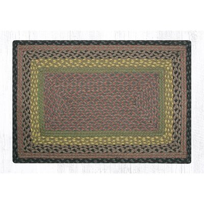 Brown/Black/Charcoal Braided Area Rug Rug Size: Rectangle 18 x 26