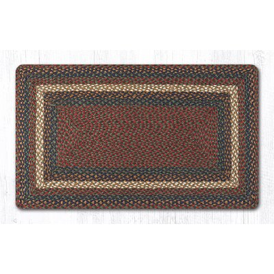 Burgundy/Gray Braided Area Rug Rug Size: 23 x 39