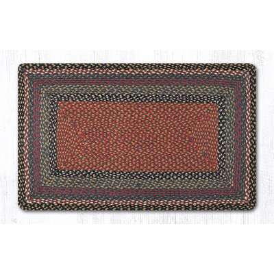 Burgundy/Blue/Gray Braided Area Rug Rug Size: Rectangle 23 x 39