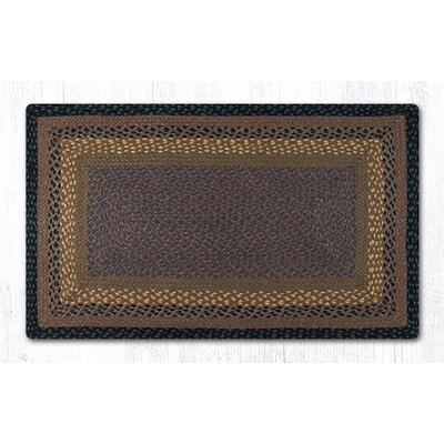 Brown/Black/Charcoal Braided Area Rug Rug Size: 23 x 39