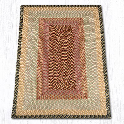 Burgundy/Gray/Cr�me Braided Area Rug Rug Size: 3 x 5