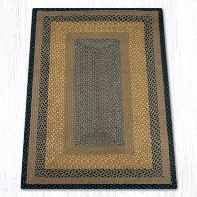 Brown/Black/Charcoal Braided Area Rug Rug Size: 3 x 5