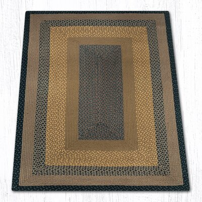 Brown/Black/Charcoal Braided Area Rug Rug Size: 4 x 6