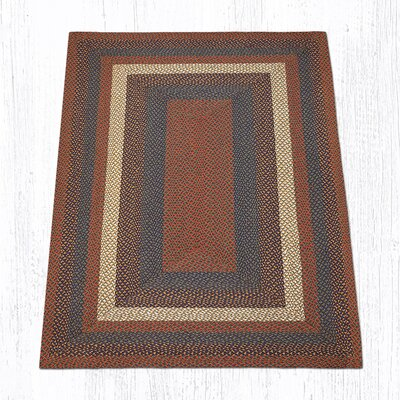 Burgundy/Gray Braided Area Rug Rug Size: 5 x 8