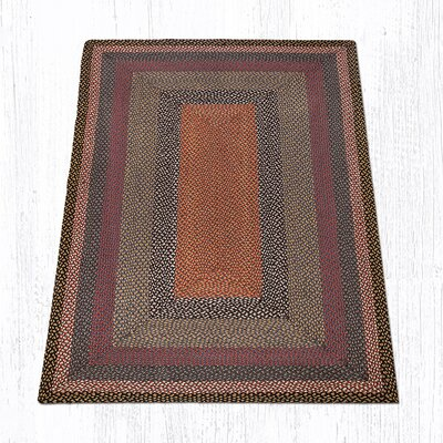 Burgundy/Blue/Gray Braided Area Rug Rug Size: 5 x 8