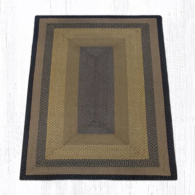 Brown/Black/Charcoal Braided Area Rug Rug Size: Rectangle 5 x 8