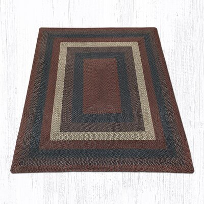 Burgundy/Gray Braided Area Rug Rug Size: 8 x 10