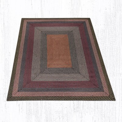 Burgundy/Blue/Gray Braided Area Rug Rug Size: 8 x 10