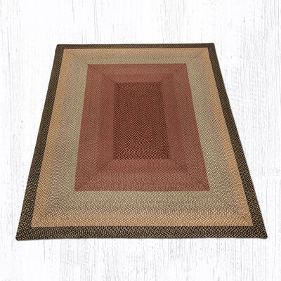Burgundy/Gray/Cr�me Braided Area Rug Rug Size: 8 x 10