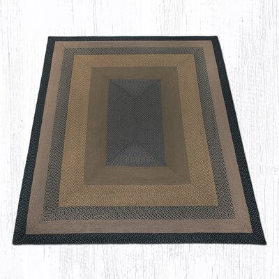 Brown/Black/Charcoal Braided Area Rug Rug Size: Rectangle 8 x 10