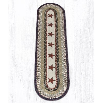 Barn Stars Printed Area Rug Rug Size: Oval 5 x 8