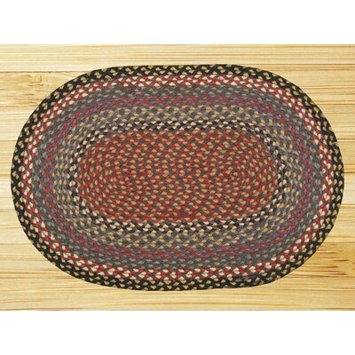 Braided Burgundy/Blue Area Rug