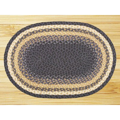 Braided Blue Area Rug Rug Size: Oval 18 x 3
