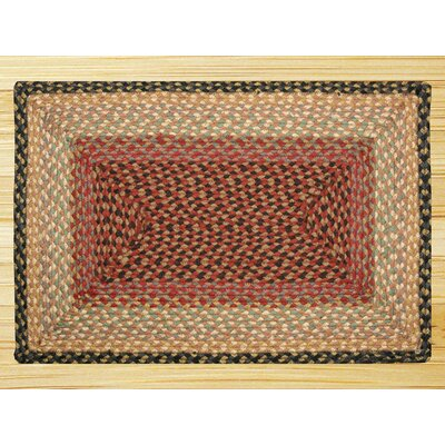 Burgundy/Gray/Crème Braided Area Rug Rug Size: Runner 2' x 6'