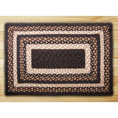 Mocha/Frappuccino Braided Area Rug Rug Size: 18 x 26