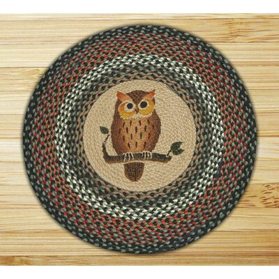 Owl Printed Area Rug Rug Size: Round 23