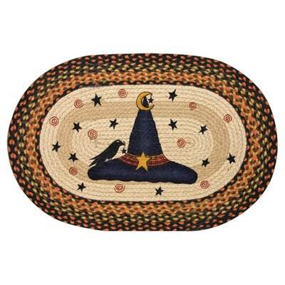 Witch Hat Printed Oval Area Rug Rug Size: Oval 18 x 26