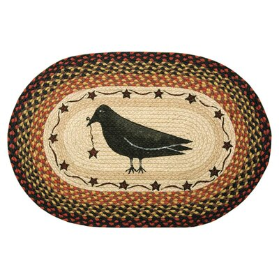 Crow & Star Printed Area Rug Rug Size: Oval 18 x 26