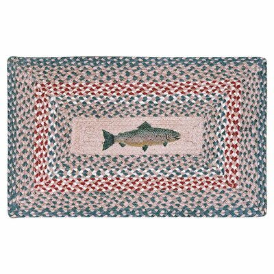Fish Printed Area Rug Rug Size: 18 x 26