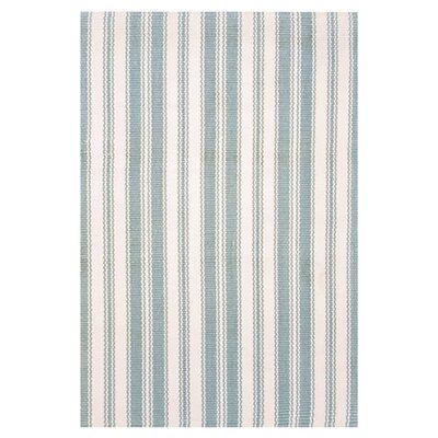 Hand Woven Blue/Ivory Indoor/Outdoor Area Rug Rug Size: 86 x 11