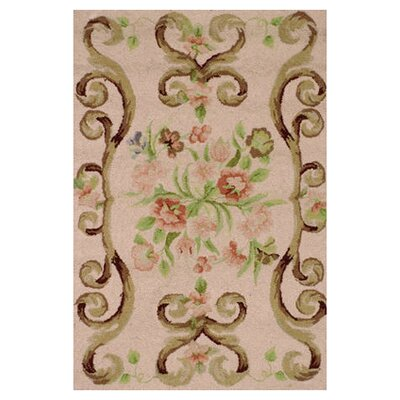 Hooked Brown Area Rug Rug Size: 2 x 3