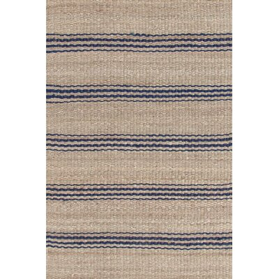 Hand Woven Beige/Blue Area Rug Rug Size: Rectangle 8 x 10