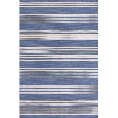 Hand Woven Blue Area Rug Rug Size: Rectangle 10 x 14