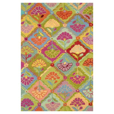 Hooked Area Rug Rug Size: 4 x 6