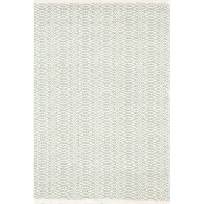 Fair Isle Hand Woven Green/White Area Rug Rug Size: 4 x 6