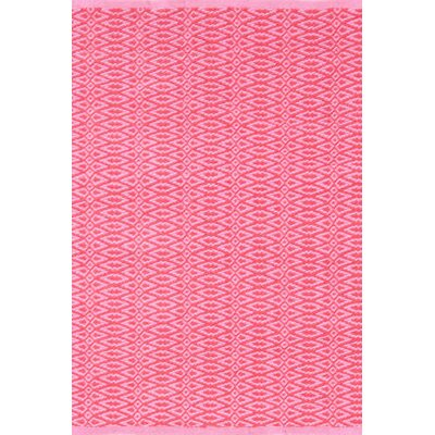 Fair Isle Hand Woven Pink Area Rug Rug Size: 4 x 6