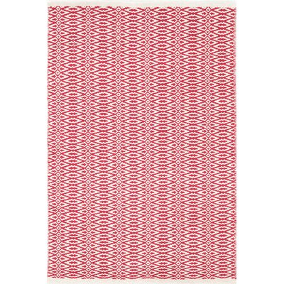 Fair Isle Hand Woven Red/White Area Rug
