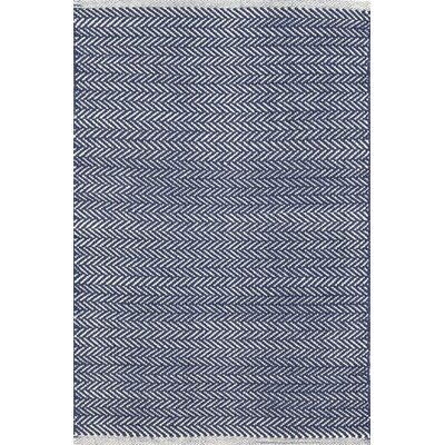 Herringbone Hand Woven Blue Area Rug Rug Size: Rectangle 9 x 12