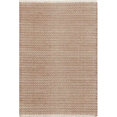 Herringbone Hand Woven Brown Area Rug
