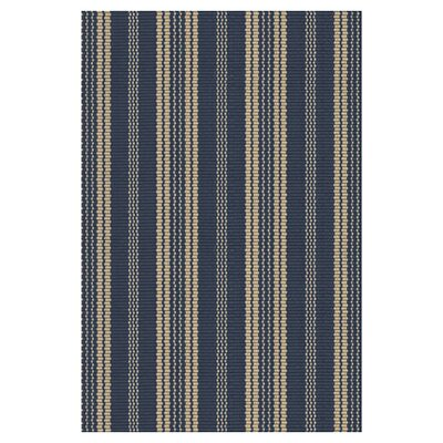 Hand Woven Navy Indoor/Outdoor Area Rug Rug Size: Rectangle 6 x 9