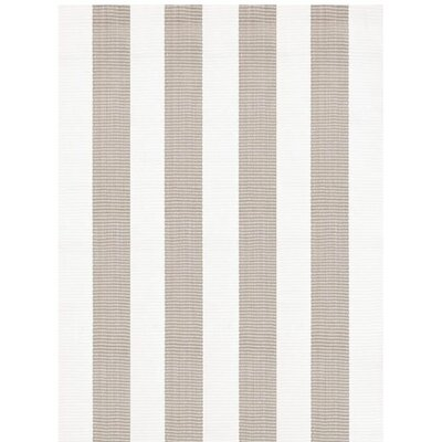 Lakehouse Hand Woven Grey/White Indoor/Outdoor Rug Rug Size: Rectangle 4 x 6