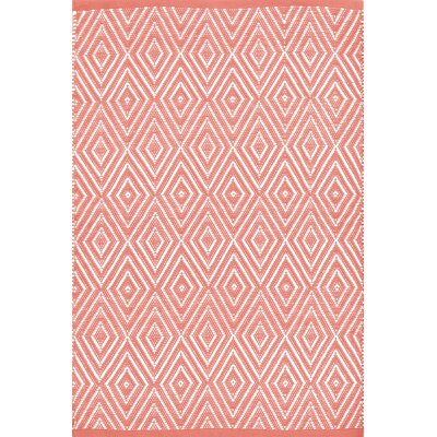 Diamond Hand-Woven Indoor/Outdoor Area Rug Rug Size: Runner 2'5