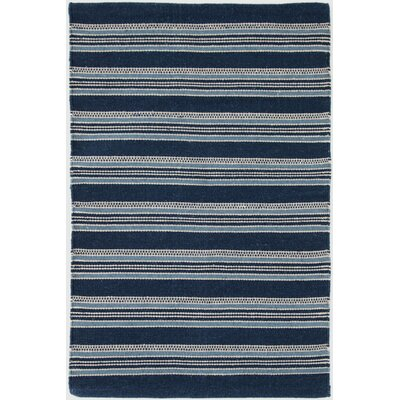 Hand Woven Blue Indoor/Outdoor Area Rug Rug Size: 10 x 14
