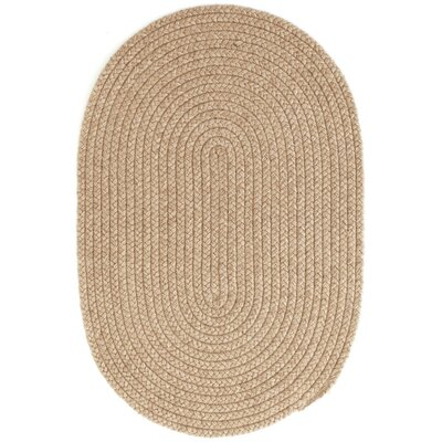 Braided Beige Indoor/Outdoor Area Rug Rug Size: Oval 26 x 8