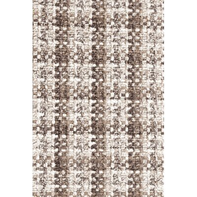 Hand Woven Brown Area Rug Rug Size: Runner 26 x 8