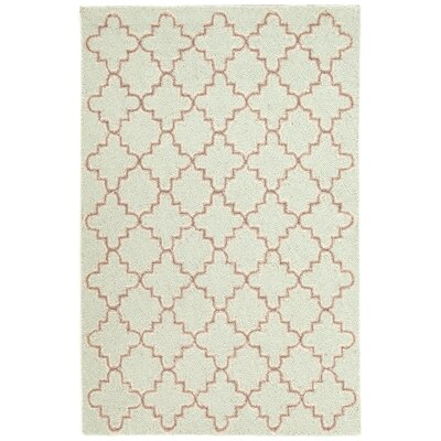 Plain Tin Hooked Green Area Rug Rug Size: 5 x 8