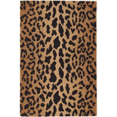 Hooked Brown/Black Area Rug Rug Size: 2 x 3