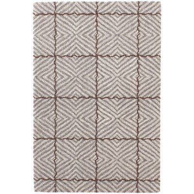 Nigel Mirco Hooked Gray Area Rug Rug Size: Rectangle 9 x 12