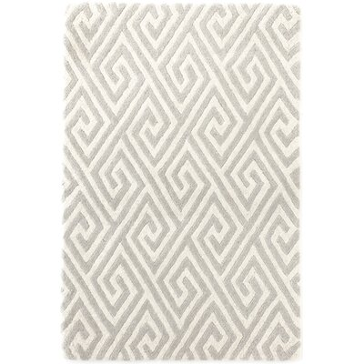 Fretwork Tufted Grey Area Rug Rug Size: 5 x 8