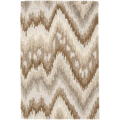 Hooked Beige Area Rug Rug Size: Rectangle 5 x 8
